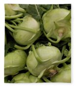 Kohlrabi Fleece Blanket