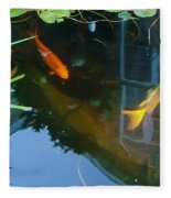 Koi - Oil Painting Effect Fleece Blanket