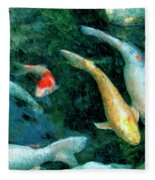 Koi Pond 2 Fleece Blanket