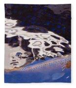 Koi Pond Abstract Fleece Blanket