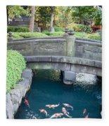 Koi Pond In Senso-ji Temple Grounds Fleece Blanket