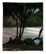 Koki Beach Hana Maui Hawaii Fleece Blanket