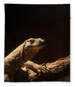 Komodo Dragon Poising Fleece Blanket