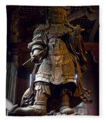 Komokuten Guardian King - Nara Japan Fleece Blanket