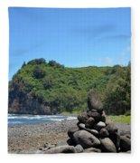 Kona Coast Rock Stack Fleece Blanket