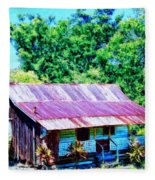 Kona Coffee Shack Fleece Blanket