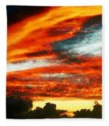 Kona Sunset 77 Lava In The Sky  Fleece Blanket