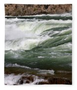 Kootenai Falls Fleece Blanket