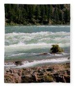 Kootenai Falls Montana Fleece Blanket