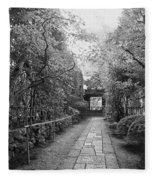 Koto-in Temple Stone Path Fleece Blanket