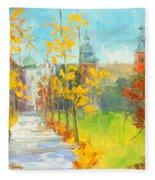 Krakow - Autumn Fleece Blanket