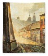 Krakow- Kanonicza Street Fleece Blanket