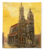 Krakow - Mariacki Church Fleece Blanket