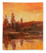 Krakow - Wawel Impression Fleece Blanket