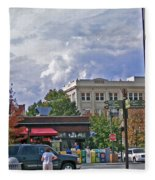 Kress Building Asheville Fleece Blanket