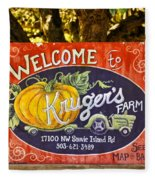 Kruger's Farm Fleece Blanket