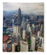 Kuala Lumpur City Fleece Blanket