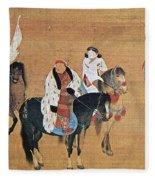 Kublai Khan Hunting Fleece Blanket