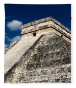 Kukulkan Pyramid At Chichen Itza Fleece Blanket
