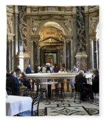 At The Kunsthistorische Museum Cafe II Fleece Blanket
