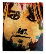 Kurt Cobain 3 Fleece Blanket