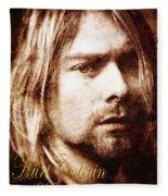 Kurt Cobain Fleece Blanket
