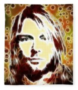 Kurt Cobain Digital Painting Fleece Blanket