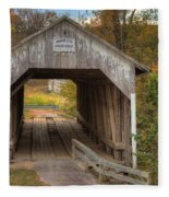 Ky Hillsboro Or Grange City Covered Bridge Fleece Blanket