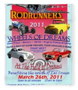 L C Rodrunner Car Show Poster Fleece Blanket