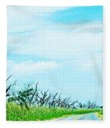 La 57 Marsh Drive Fleece Blanket