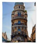 La Adriatica Building, Seville Fleece Blanket