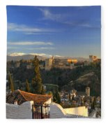 La Alhambra Granada Spain Fleece Blanket