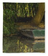 La Barque A Giverny Fleece Blanket
