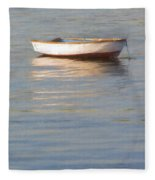 La Barque Au Crepuscule Fleece Blanket