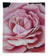 La Bella Rosa Fleece Blanket