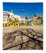 La Boca Graffiti Fleece Blanket