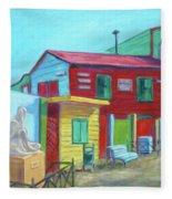 La Boca Morning I Fleece Blanket