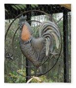 La Decoration Sur La Cage De Poulet Fleece Blanket