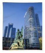 La Defense Memorial Fleece Blanket by Brian Jannsen