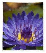 La Fleur De Lotus - Star Of Zanzibar Tropical Water Lily Fleece Blanket