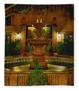 La Fuente At Tlaquepaque Fleece Blanket