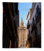 La Giralda - Seville Spain  Fleece Blanket