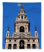 La Giralda Belfry In Seville Fleece Blanket