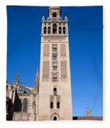 La Giralda Bell Tower In Seville Fleece Blanket