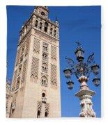 La Giralda Cathedral Tower In Seville Fleece Blanket