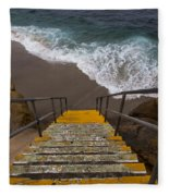 La Jolla Stairs 2 Fleece Blanket