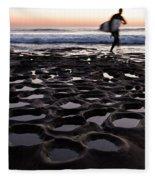 La Jolla Surf Session Part 2 Fleece Blanket