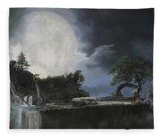 La Luna Bianca Fleece Blanket