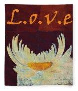 La Marguerite - Love Red Wine  Fleece Blanket