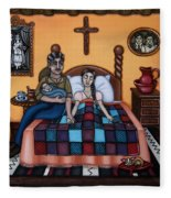 La Partera Or The Midwife Fleece Blanket
